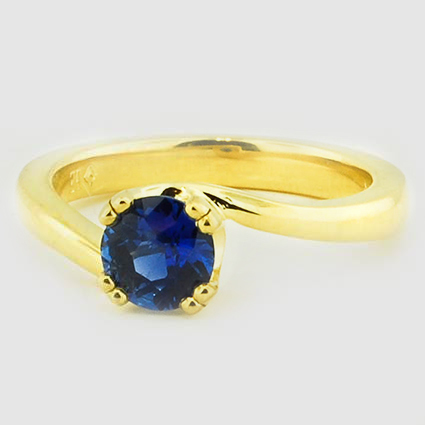 18K Yellow Gold Sapphire Seacrest Ring
