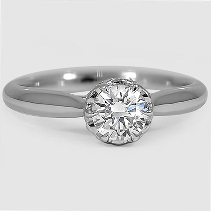 Platinum Pirouette Diamond Ring