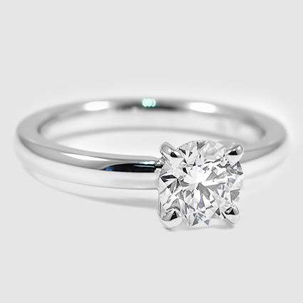 18K White Gold 2mm Comfort Fit Ring