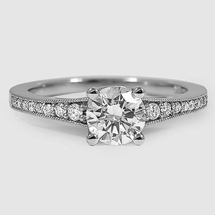 18K White Gold Lucia Diamond Ring