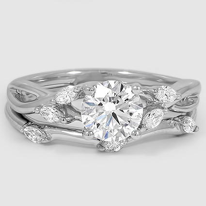 Platinum Willow Matched Set (1/4 ct. tw.)