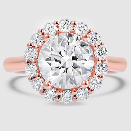 14K Rose Gold Lotus Flower Diamond Ring (1/3 ct. tw.)