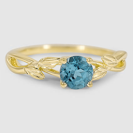 18K Yellow Gold Sapphire Budding Willow Ring
