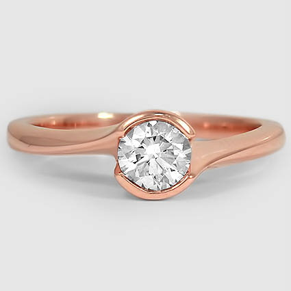 14K Rose Gold Cascade Ring
