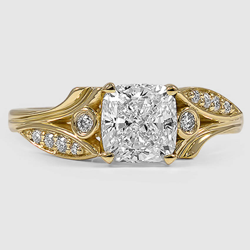 18K Yellow Gold Jasmine Diamond Ring