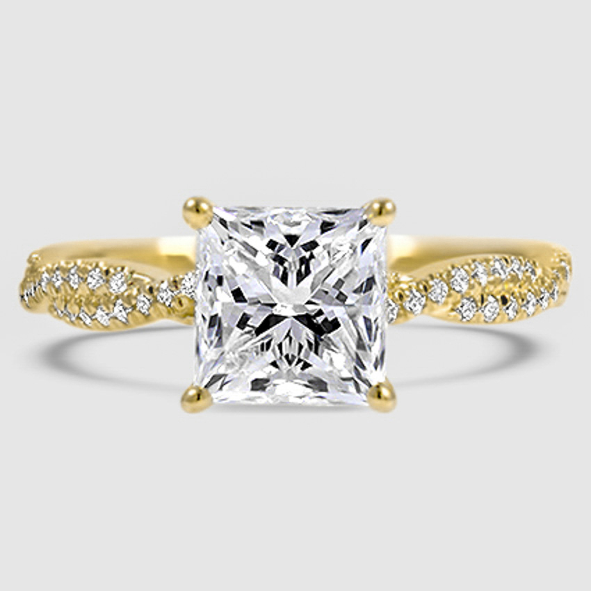 Scalloped Engagement Ring Luxe Twisted Vine