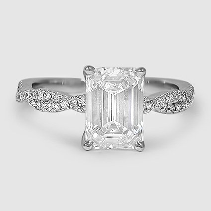 18K White Gold Petite Luxe Twisted Vine Diamond Ring (1/4 ct. tw.)