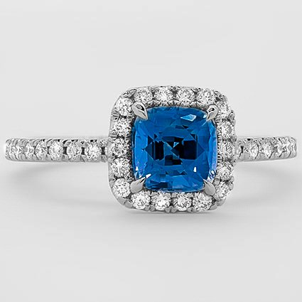 Platinum Sapphire Waverly Diamond Ring