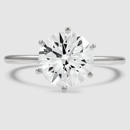18k white gold sixprong petite comfort fit 332 carat round diamond