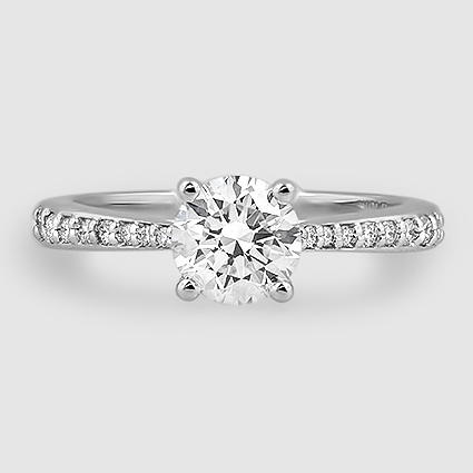 18K White Gold Geneva Diamond Ring