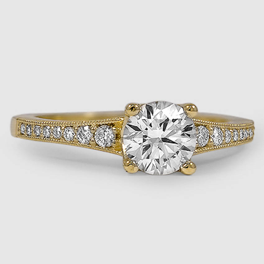 18K Yellow Gold Lucia Diamond Ring