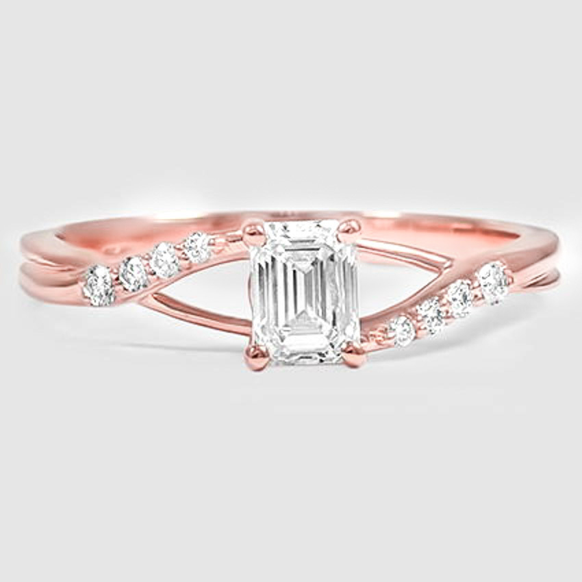 14K Rose Gold Chamise Diamond Ring