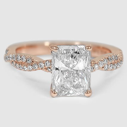 14K Rose Gold Petite Luxe Twisted Vine Diamond Ring (1/4 ct. tw.)