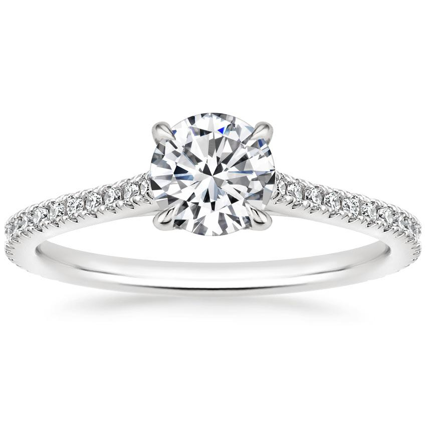 Round Platinum Luxe Lissome Diamond Ring (1/5 ct. tw.)