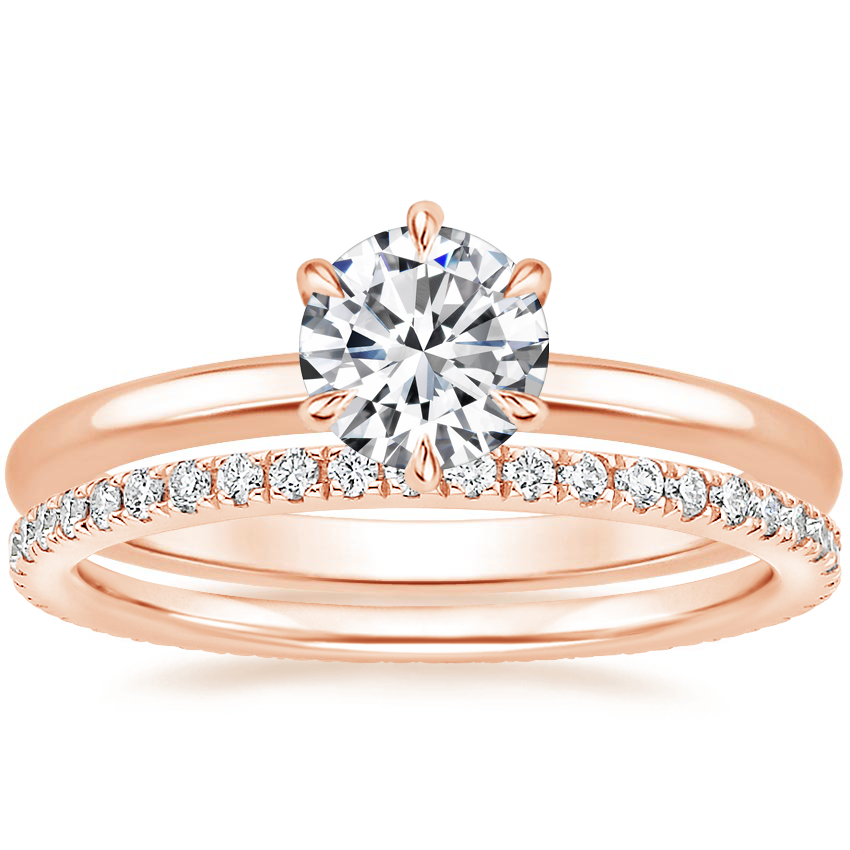 14K Rose Gold Esme Ring with Ballad Eternity Diamond Ring (1/3 ct. tw.)