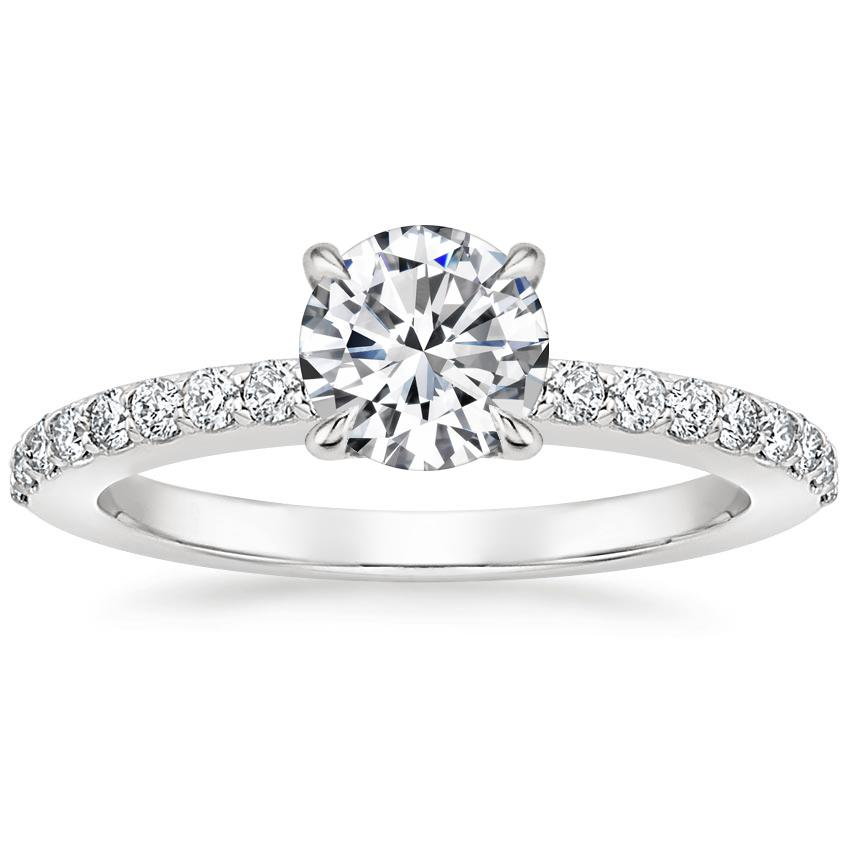 Round Diamond Prong Engagement Ring
