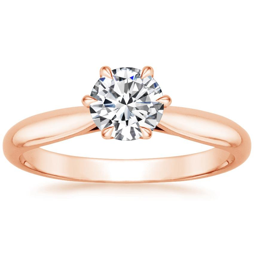 Round 14K Rose Gold Catalina Ring