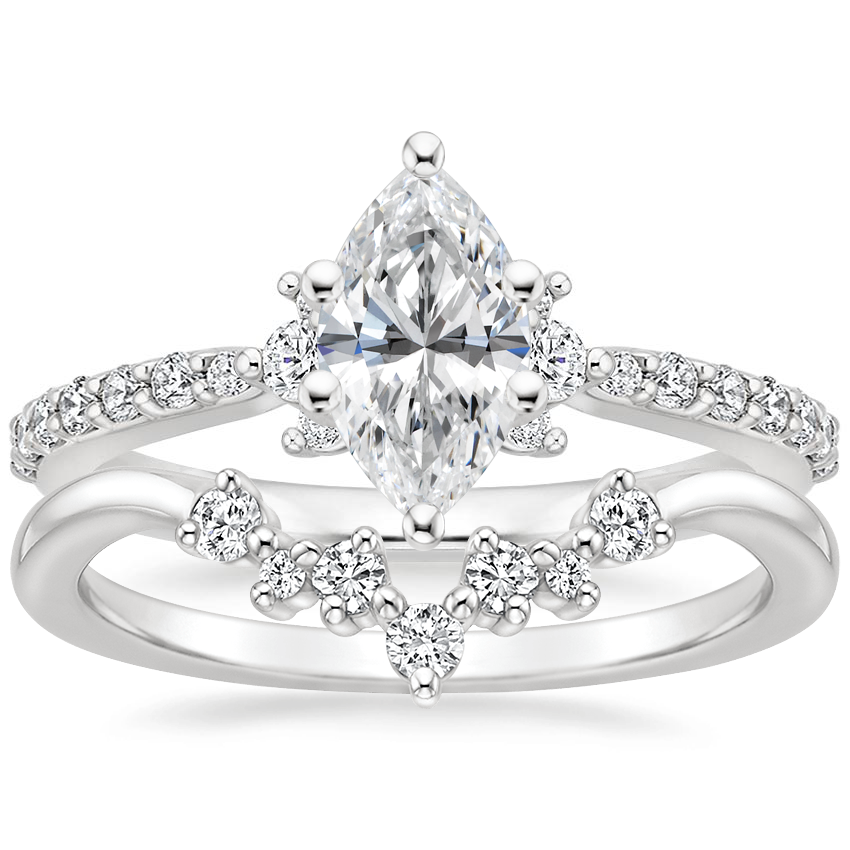 18K White Gold Melina Diamond Ring (1/4 ct. tw.) with Caris Diamond Ring