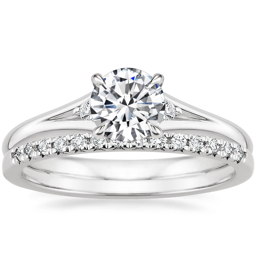 Platinum Lena Diamond Ring with Sonora Diamond Ring (1/8 ct. tw.)