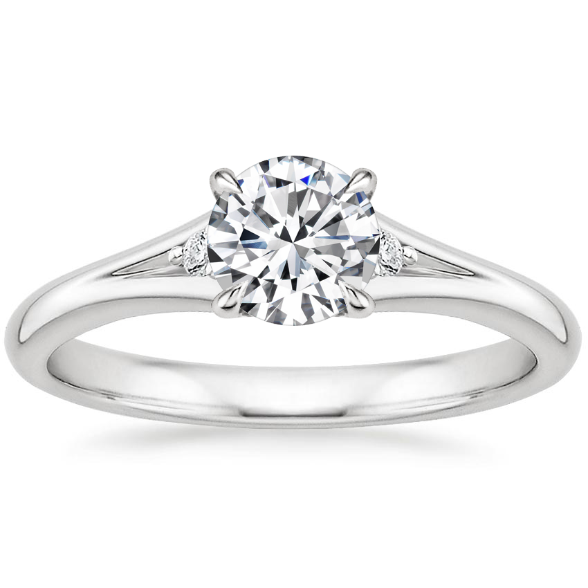 Round Platinum Lena Diamond Ring