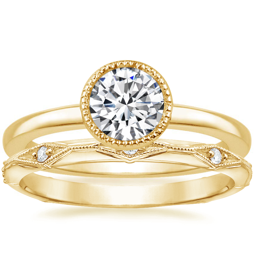 18K Yellow Gold Sierra Ring with Marquesa Diamond Ring