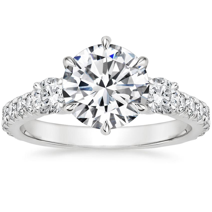 Round 18K White Gold Gramercy Diamond Ring (3/4 ct. tw.)
