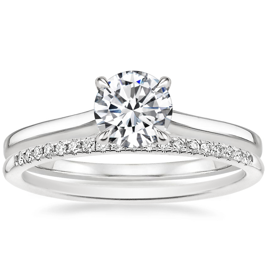 Platinum Provence Ring with Whisper Diamond Ring (1/10 ct. tw.)