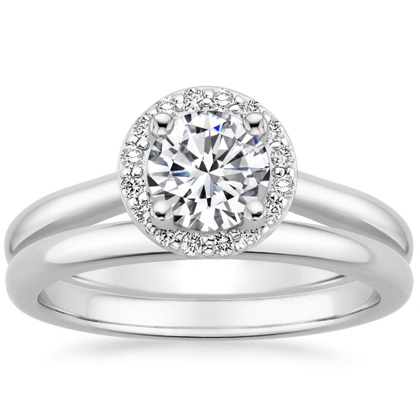 Platinum Halo Diamond Bridal Set (1/6 ct. tw.)