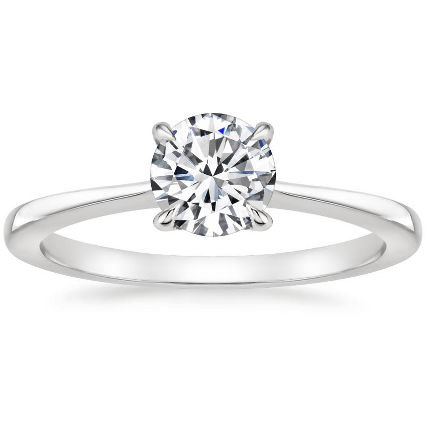 Round Platinum Elle Ring
