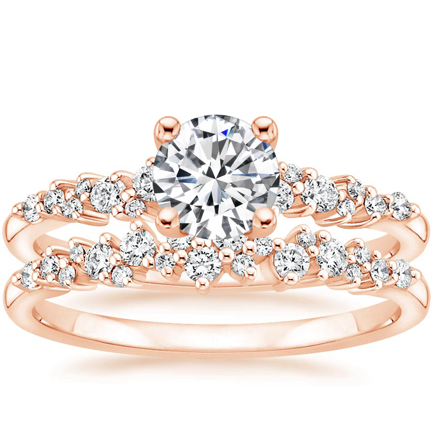 14K Rose Gold Aurora Diamond Bridal Set (1/3 ct. tw.)
