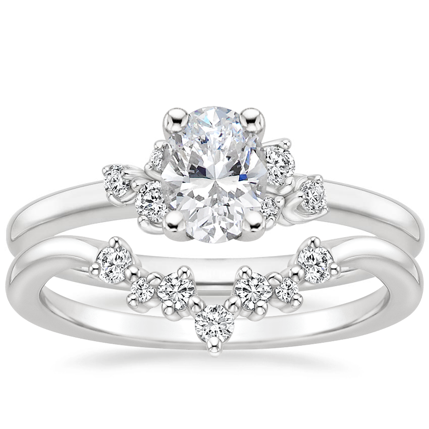 18K White Gold Mia Diamond Ring with Caris Diamond Ring