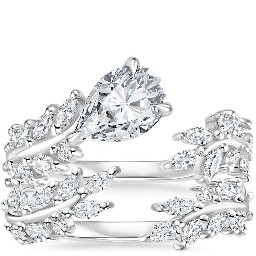 Platinum Sweeping Ivy Diamond Bridal Set (1 ct. tw.)