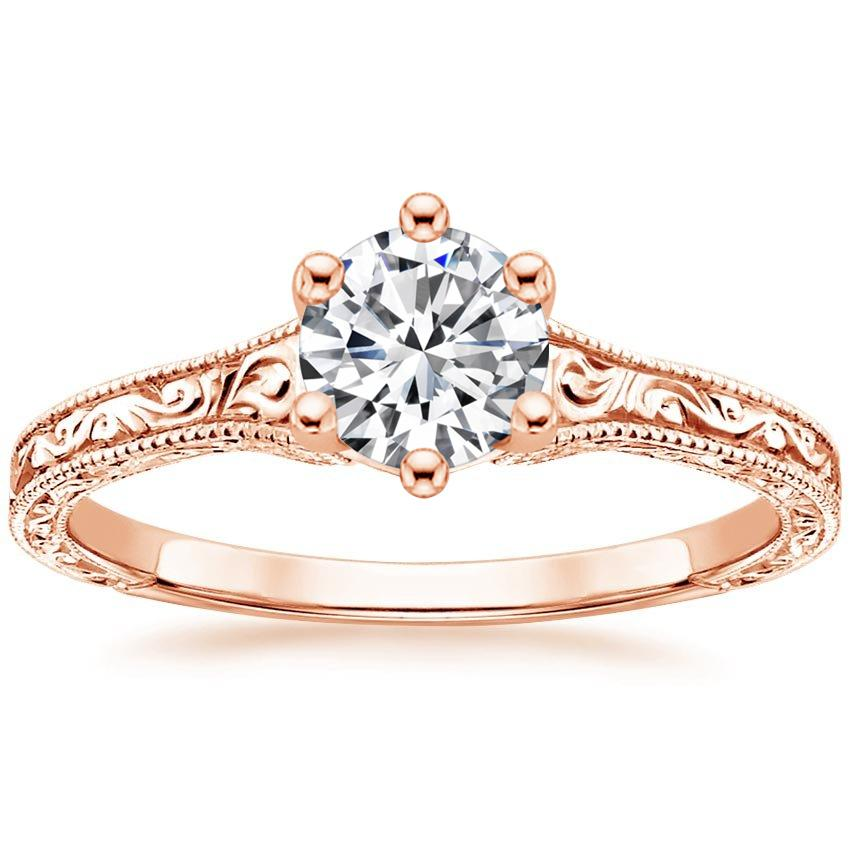 Round 14K Rose Gold Hudson Ring