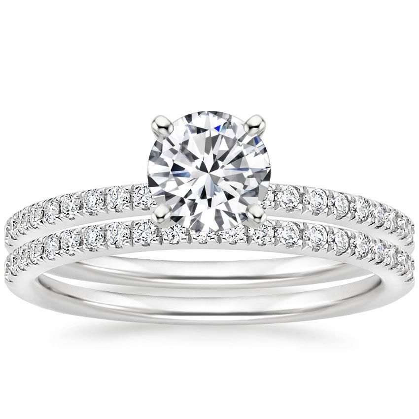18K White Gold Ballad Diamond Bridal Set (1/3 ct. tw.)