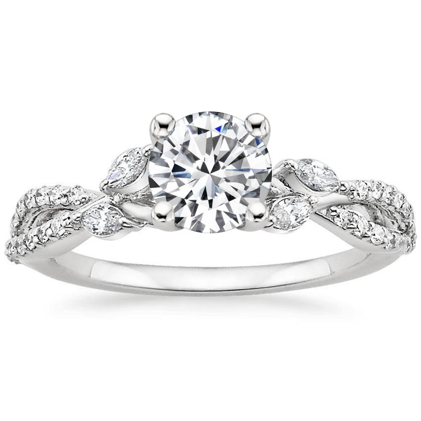 18K White Gold Luxe Willow Diamond Ring (1/3 ct. tw.), top view