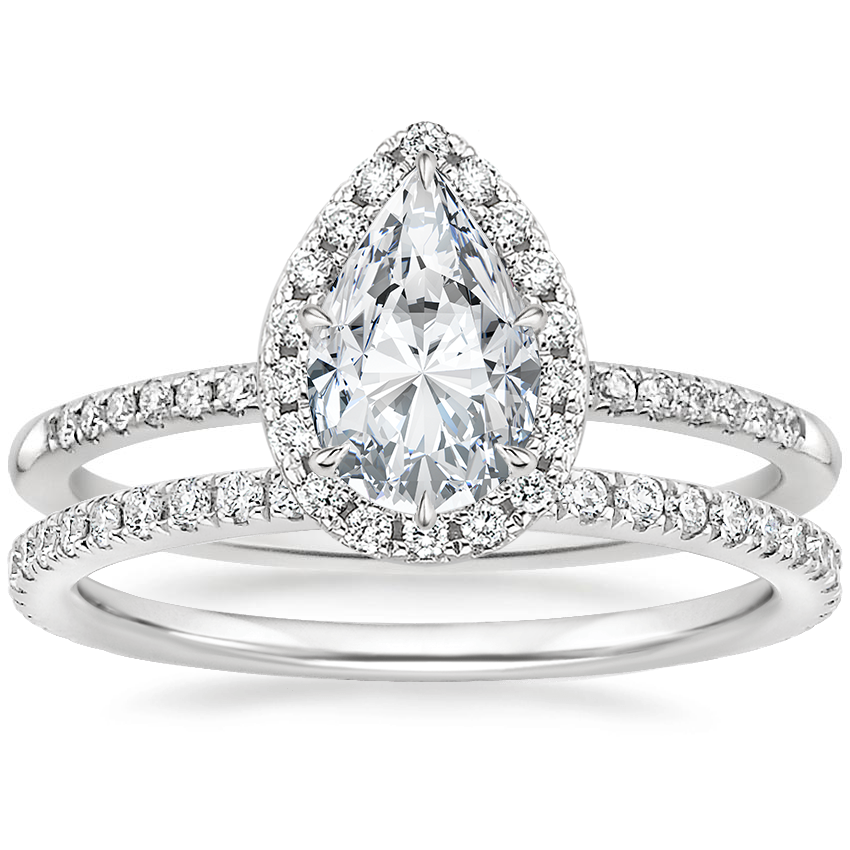 18K White Gold Cambria Diamond Ring with Luxe Ballad Diamond Ring (1/4 ct. tw.)