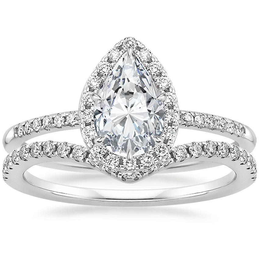 18K White Gold Cambria Diamond Ring (1/4 ct. tw.) with Flair Diamond Ring