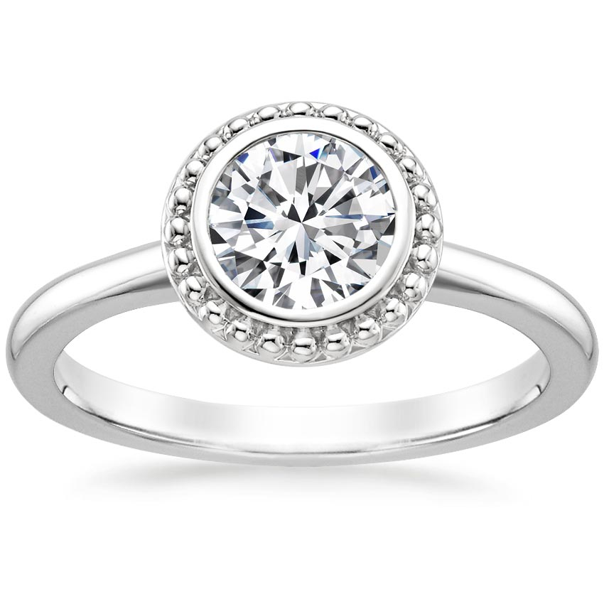 Round Contemporary Engagement Ring