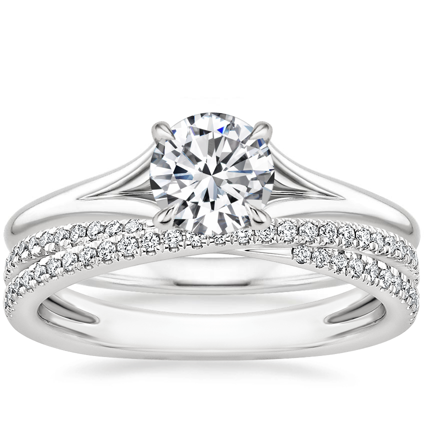 18K White Gold Reverie Ring with Calypso Diamond Ring