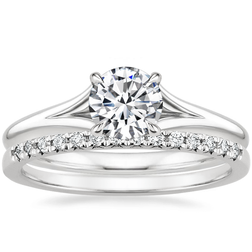 18K White Gold Reverie Ring with Sonora Diamond Ring (1/8 ct. tw.)