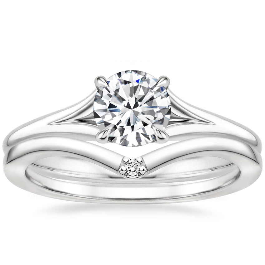 18K White Gold Reverie Ring with Arc Diamond Ring