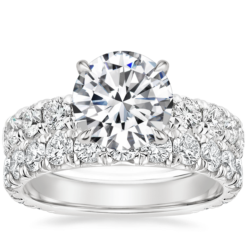 18K White Gold Ellora Diamond Ring with Luxe Ellora Diamond Ring (1 2/5 ct. tw.)