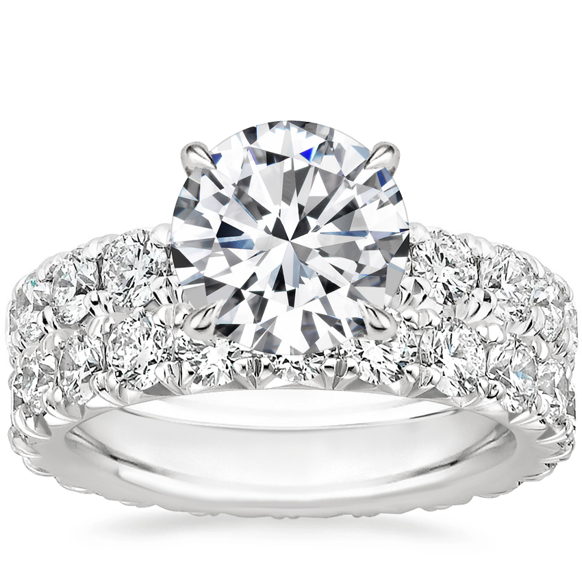 Platinum Ellora Diamond Ring with Ellora Eternity Diamond Ring (1 3/4 ct. tw.)