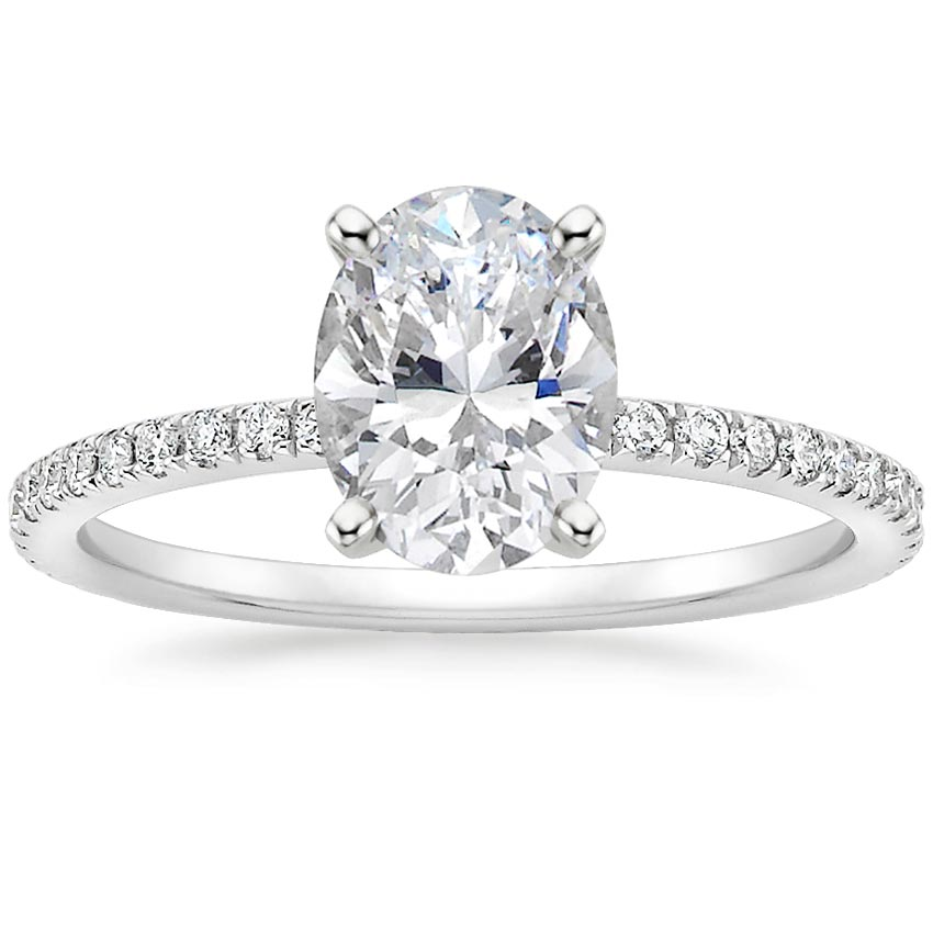 Oval Pavé Diamond Setting