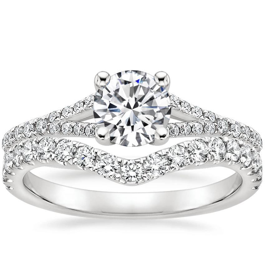18K White Gold Flair Diamond Ring with Luxe Flair Diamond Ring (1/3 ct. tw.)