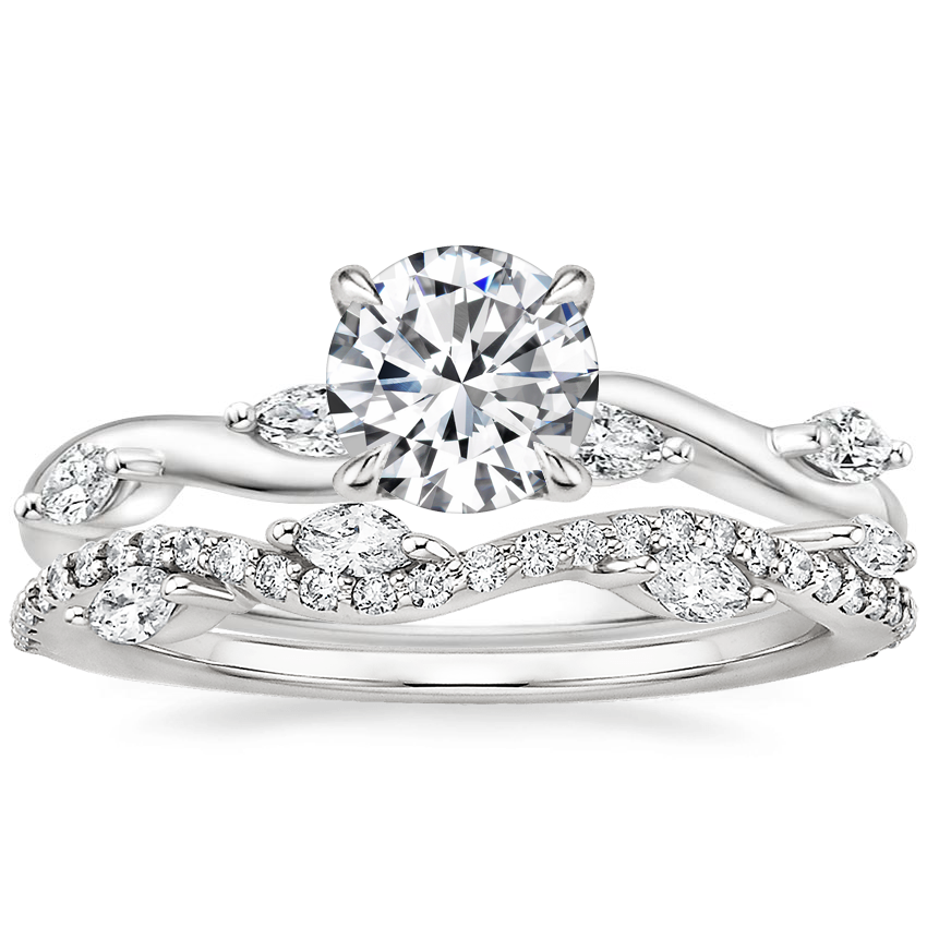 18K White Gold Winding Willow Diamond Ring with Luxe Winding Willow Diamond Ring (1/4 ct. tw.)
