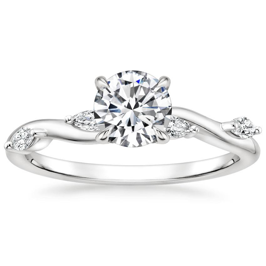 Round Vine Engagement Ring