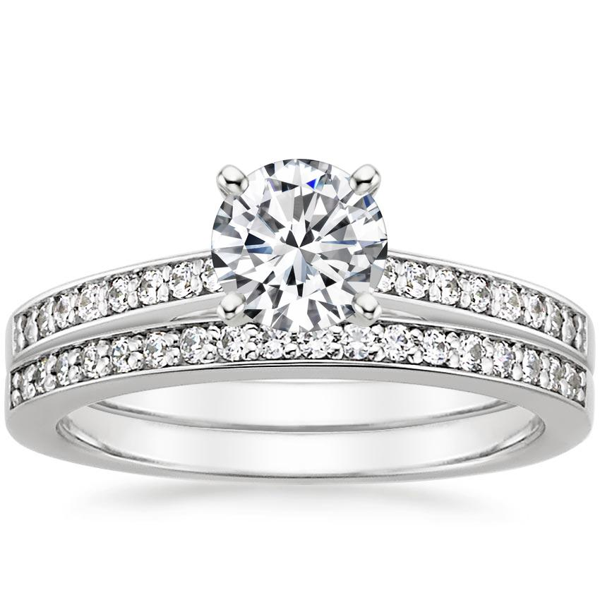 18K White Gold Starlight Diamond Bridal Set (1/4 ct. tw.)