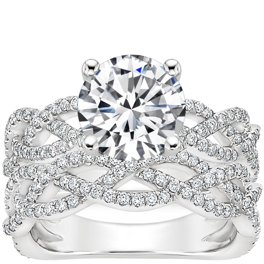 18K White Gold Solana Diamond Bridal Set (2/3 ct. tw.)
