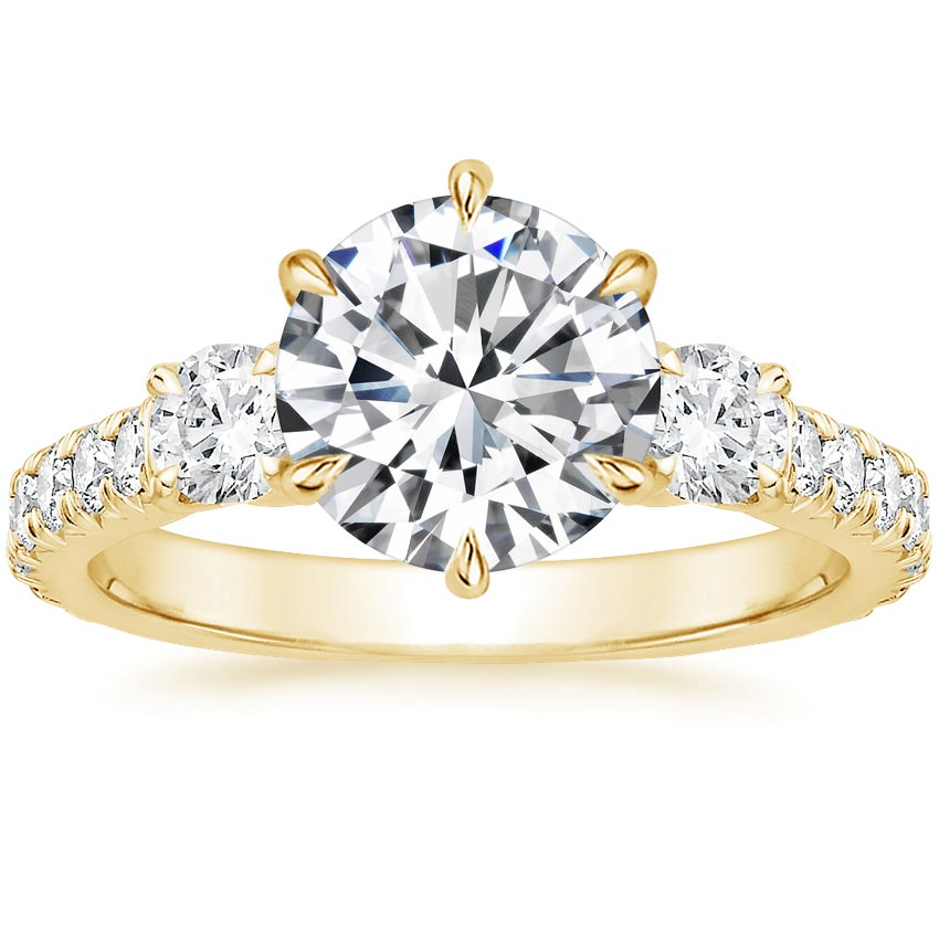 Round 18K Yellow Gold Gramercy Diamond Ring (3/4 ct. tw.)